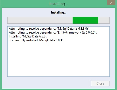Figure 3: Installing MySQL and Dependencies