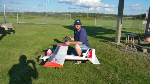 Me with my first plane, Sig Kadet LT-40, Summer 2015