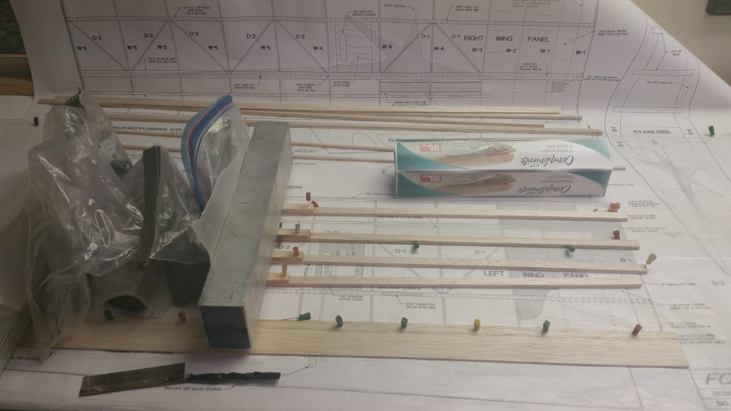 Starting the Wing (Spar doublers glued)