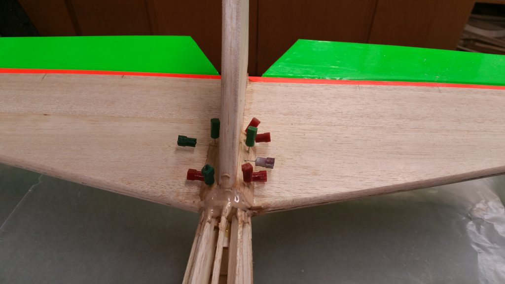 Glued Balsa Tail Fairing Blocks