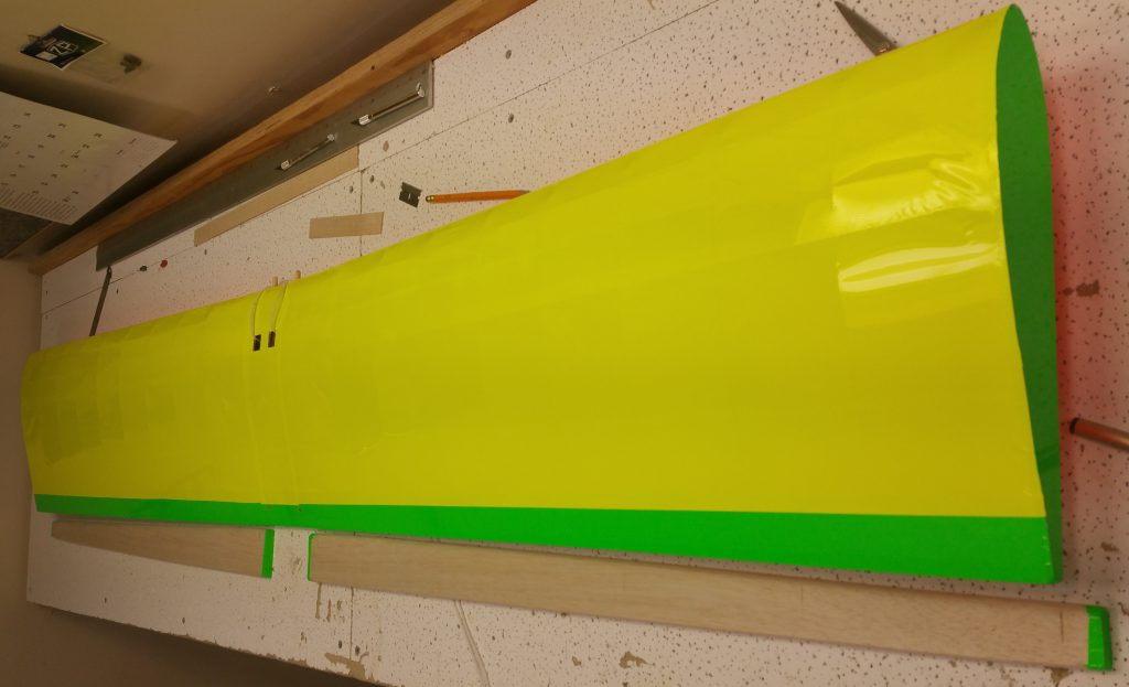 Top Left Wing Panel and Aileron Tips Covered