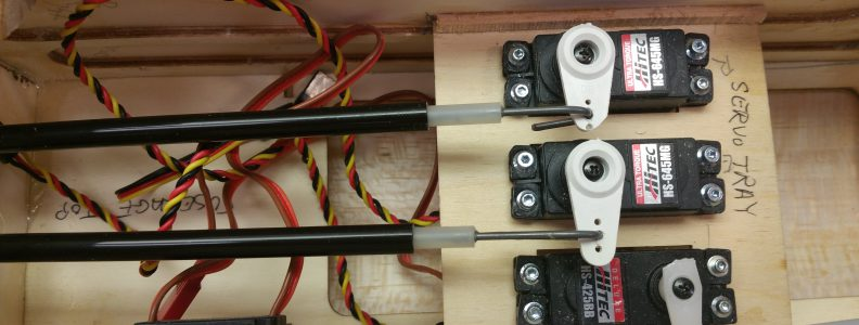 Rudder & Elevator Push Rods Installed at Servos