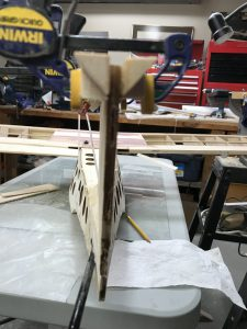 Stabilizer triangle blocks glued