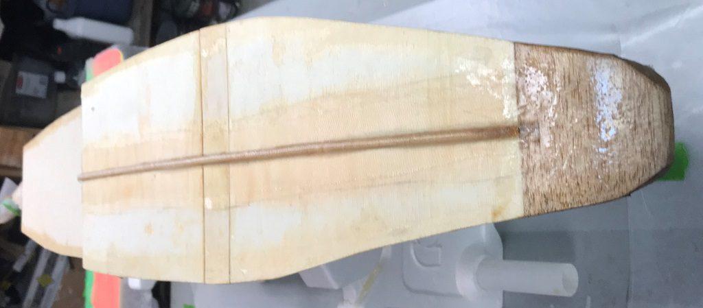 Bottom Front Edges Fiber-Glassing