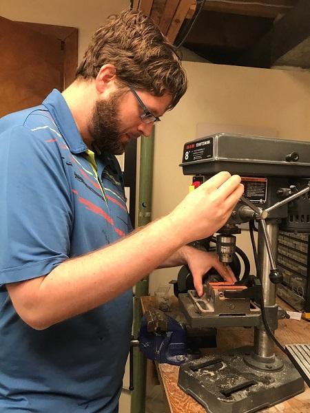 Engine Mount Screw Holes - Using Drill Press
