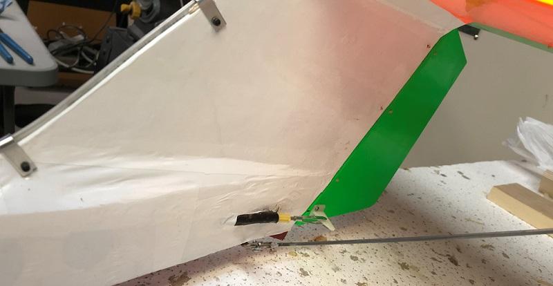 Rudder Push Rod, Linkage to Control Arm