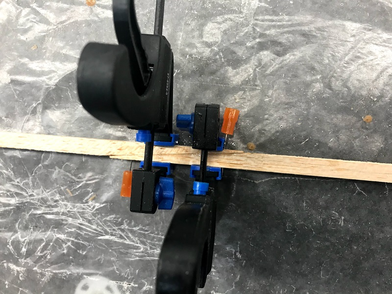Trailing Edge W-TE-1 Scarf Joint Glued
