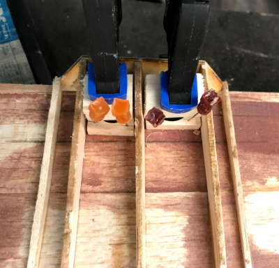 Wing Bolt Tube Supports Glued
