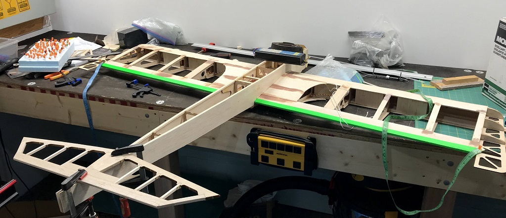 Horizontal Stabilizer Glued