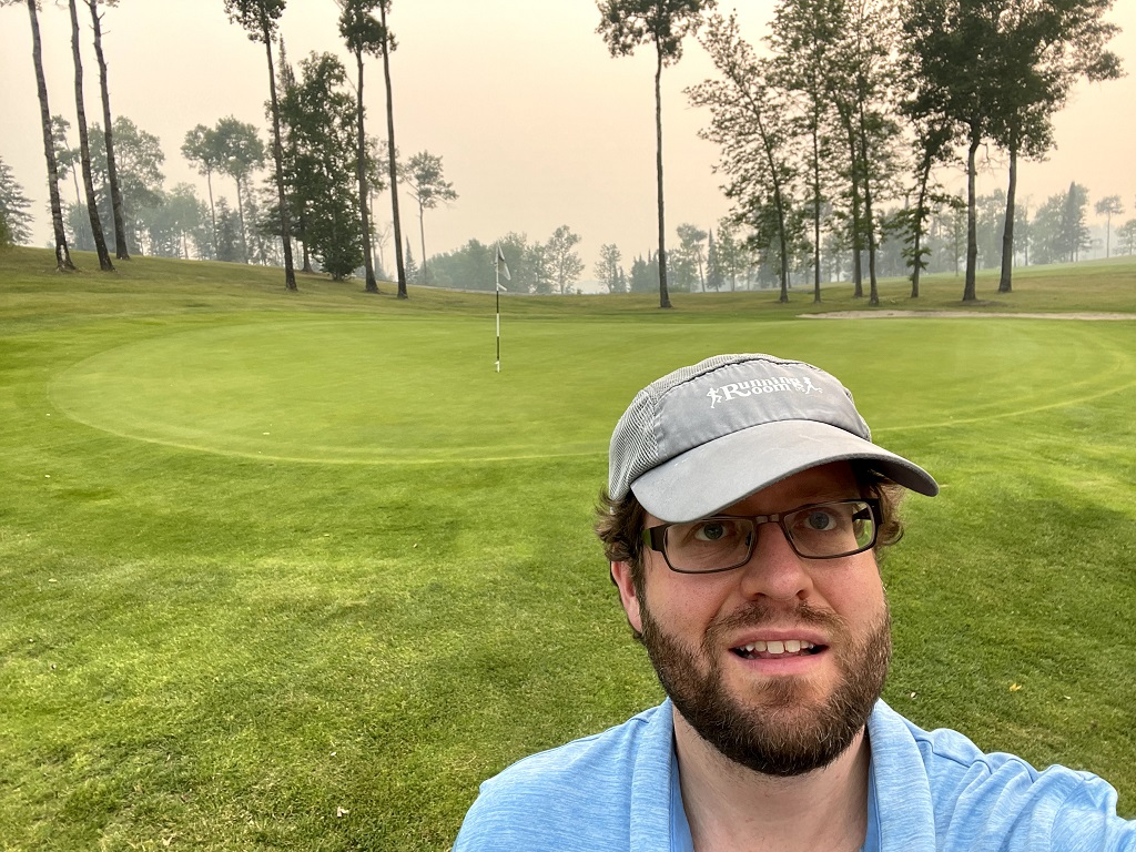 Me at Beauty Bay Golf Course